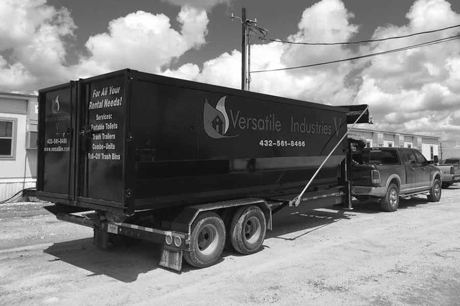 Roll off Dumpster- Versatile Industries V, LLC | Midland & Trenton, TX